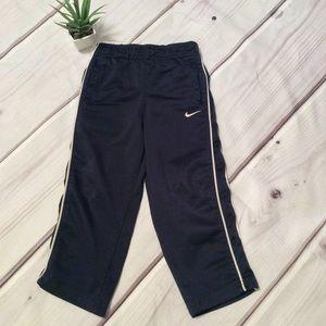 Nike navy blue three tea polyester pants